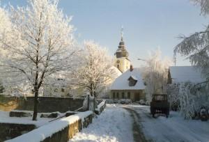 Winter Kirche Pommerf