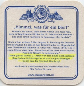 Bierdeckel-Kaiserdom