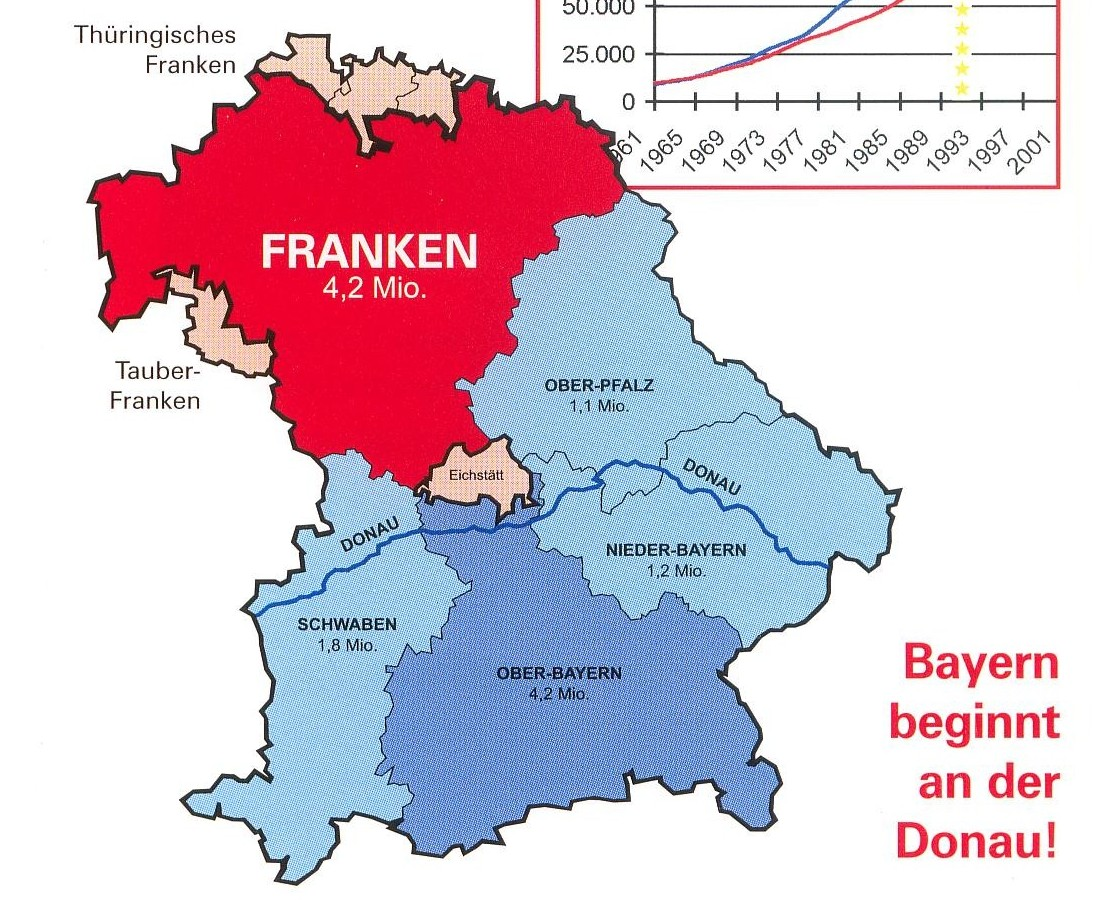 Franken Bayern Karte