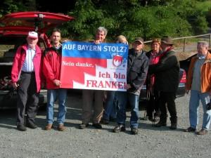 Plakataktion anlässlich einer F.B. Wanderung im Frankenwald